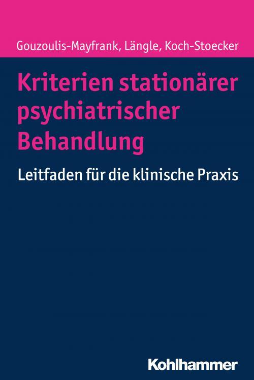 Kriterien stationärer psychiatrischer Behandlung cover
