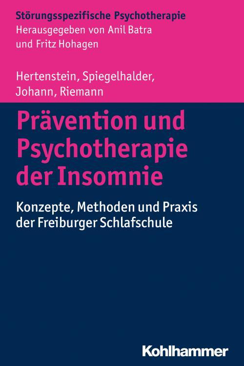 Prävention und Psychotherapie der Insomnie cover