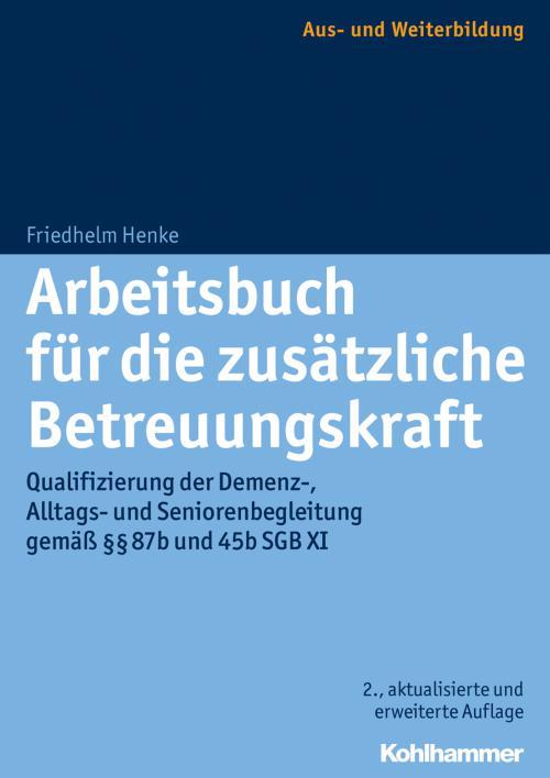 Arbeitsbuch für die zusätzliche Betreuungskraft cover