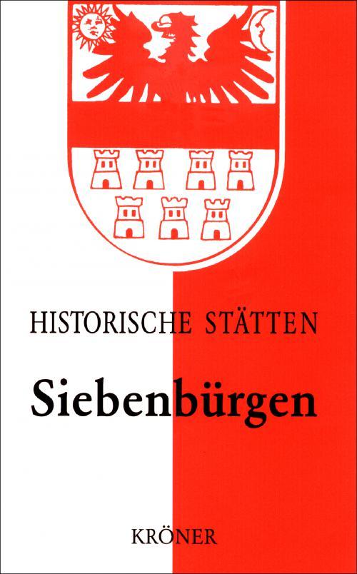 Handbuch der historischen Stätten Siebenbürgen cover
