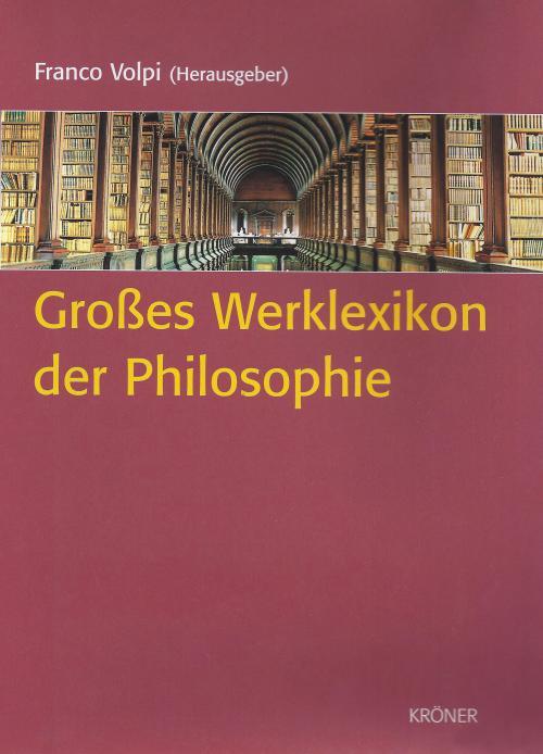 Großes Werklexikon der Philosophie cover