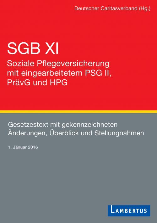 SGB XI - Soziale Pflegeversicherung mit eingearbeitetem PSG II, PrävG und HPG cover