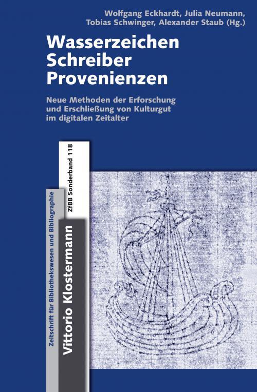 Wasserzeichen - Schreiber - Provenienzen cover