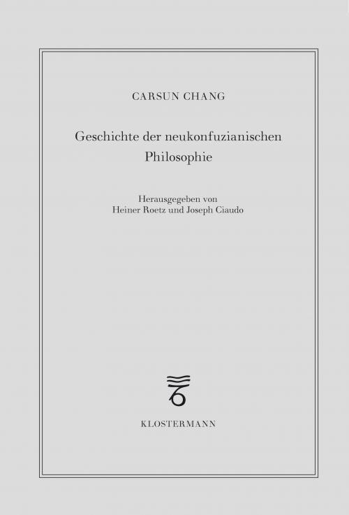Geschichte der neukonfuzianischen Philosophie cover