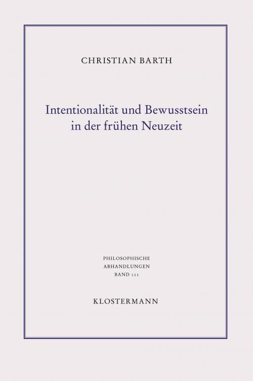 Intentionalität und Bewusstsein in der frühen Neuzeit cover