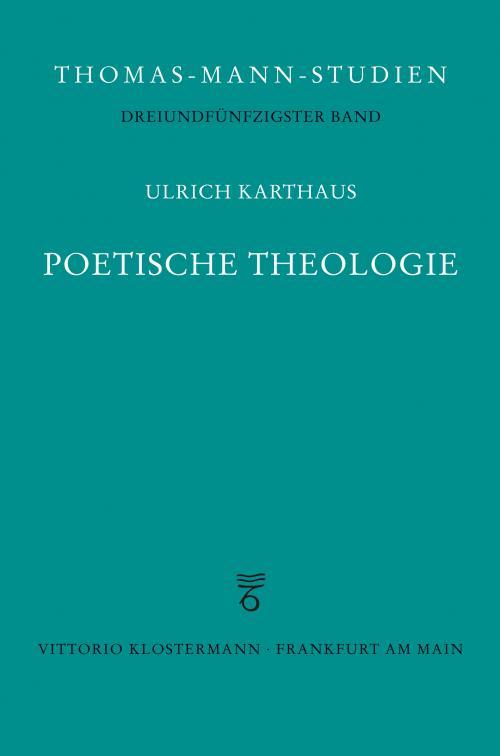 Poetische Theologie cover