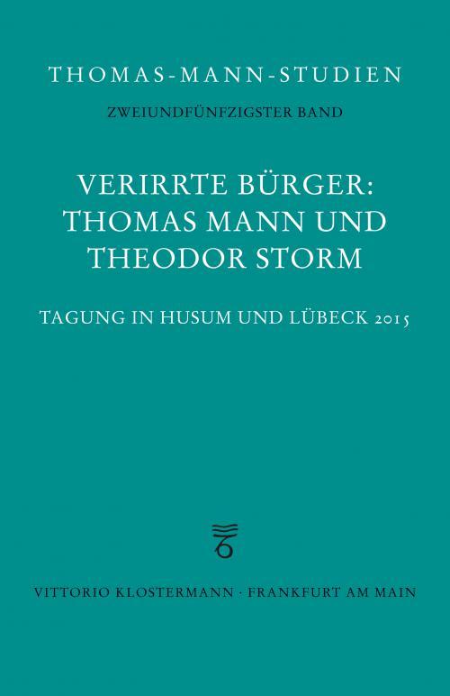 Verirrte Bürger: Thomas Mann und Theodor Storm cover