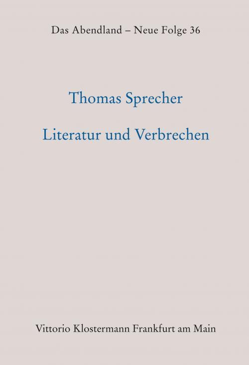 Literatur und Verbrechen cover