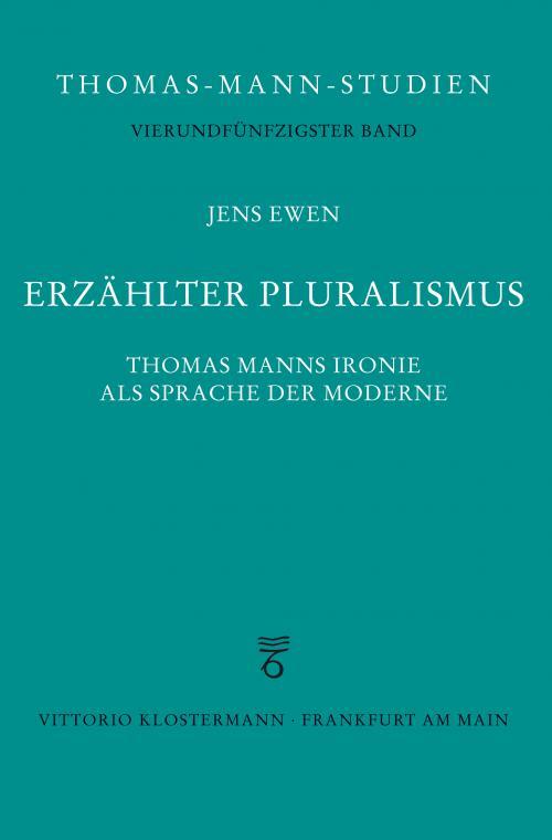Erzählter Pluralismus cover