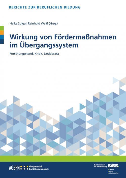 Wirkung von Fördermaßnahmen im Übergangssystem cover