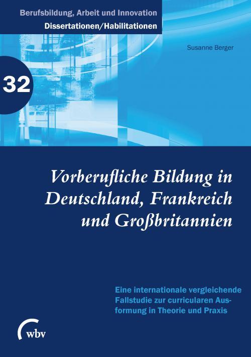 Vorberufliche Bildung in Deutschland, Frankreich und Großbritannien cover