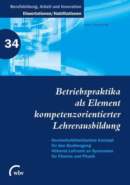 Betriebspraktika als Element kompetenzorientierter Lehrerausbildung cover