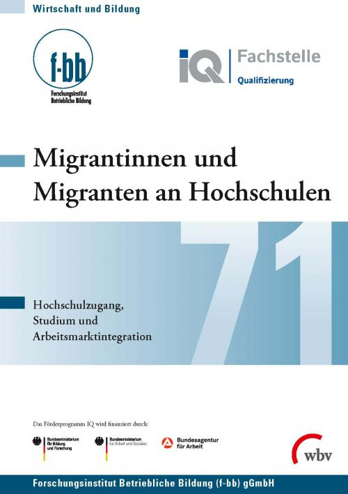 Migrantinnen und Migranten an Hochschulen cover