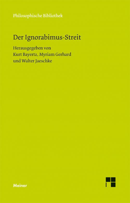 Der Ignorabimus-Streit cover