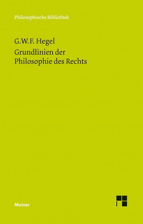 Grundlinien der Philosophie des Rechts cover