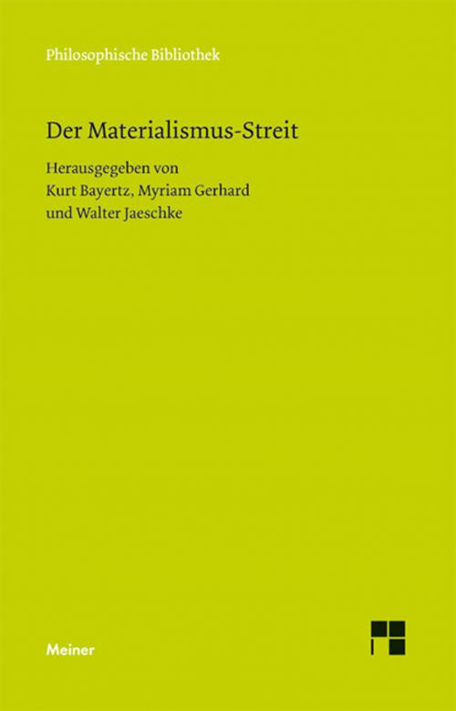 Der Materialismus-Streit cover