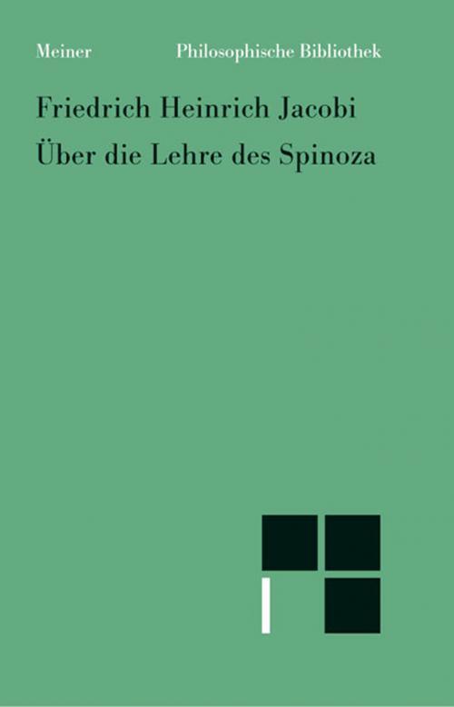 Über die Lehre des Spinoza cover