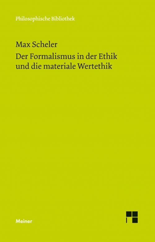 Der Formalismus in der Ethik und die materiale Wertethik cover