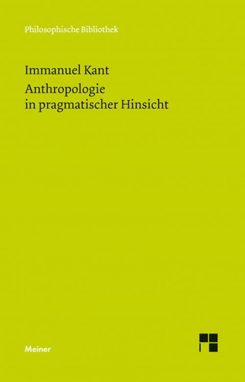 Anthropologie in pragmatischer Hinsicht cover