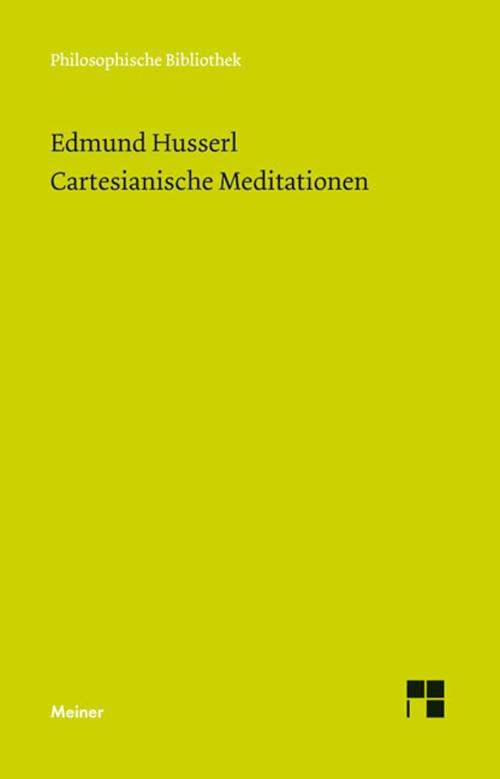Cartesianische Meditationen cover