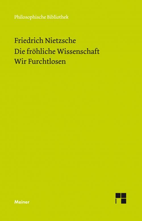 Die Fröhliche Wissenschaft / Wir Furchtlosen (Neue Ausgabe 1887) cover