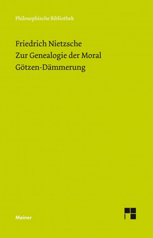 Zur Genealogie der Moral (1887). Götzen-Dämmerung cover