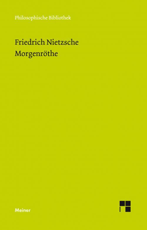 Morgenröte (Neue Ausgabe 1887) cover