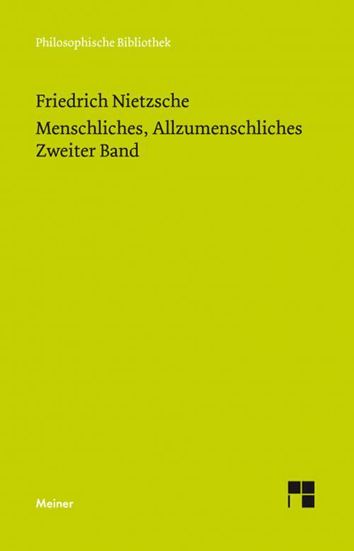 Menschliches, Allzumenschliches 2 (Neue Ausgabe 1886) cover