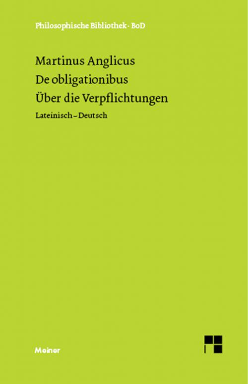 Über die Verpflichtungen. De obligaionibus. cover
