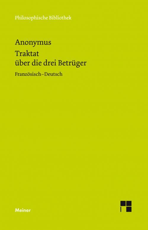 Traktat über die drei Betrüger (1768) cover