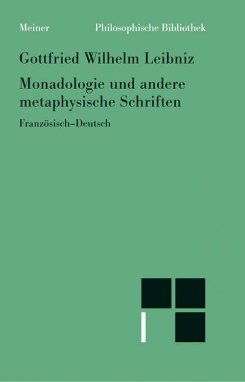 Monadologie und andere metaphysische Schriften cover