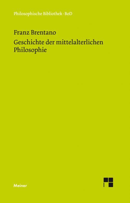 Geschichte der mittelalterlichen Philosophie im christlichen Abendland cover