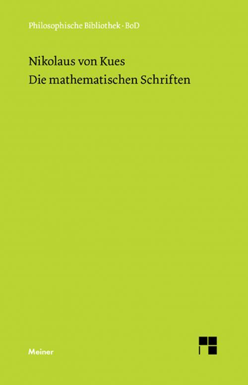 Schriften in deutscher Übersetzung / Die mathematischen Schriften cover