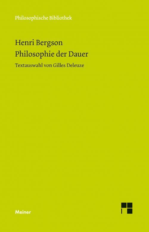 Philosophie der Dauer cover
