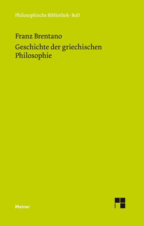 Geschichte der griechischen Philosophie cover