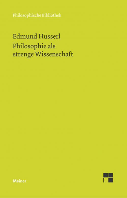 Philosophie als strenge Wissenschaft cover