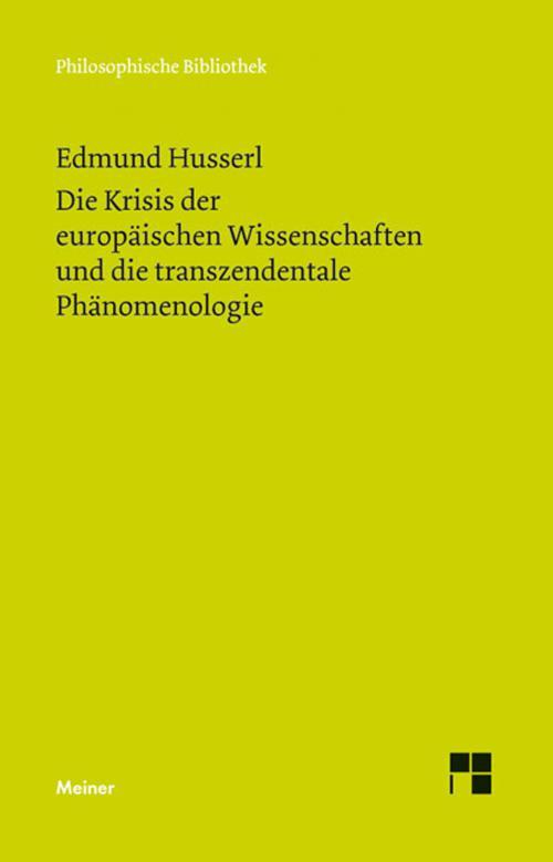 Die Krisis der europäischen Wissenschaften und die transzendentale Phänomenologie cover