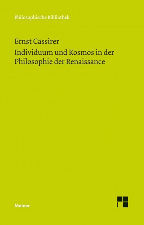 Individuum und Kosmos in der Philosophie der Renaissance cover
