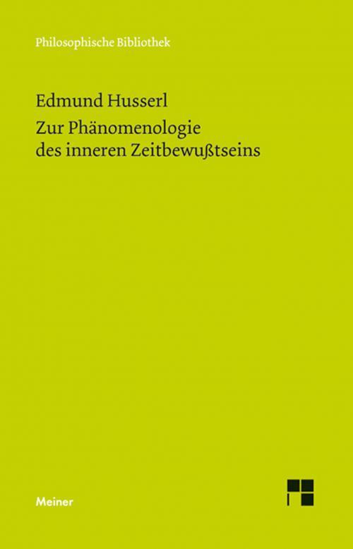 Zur Phänomenologie des inneren Zeitbewußtseins cover