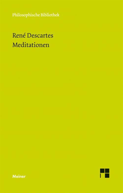 Meditationen über die erste Philosophie cover