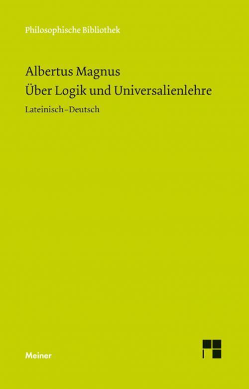 Über Logik und Universalienlehre cover