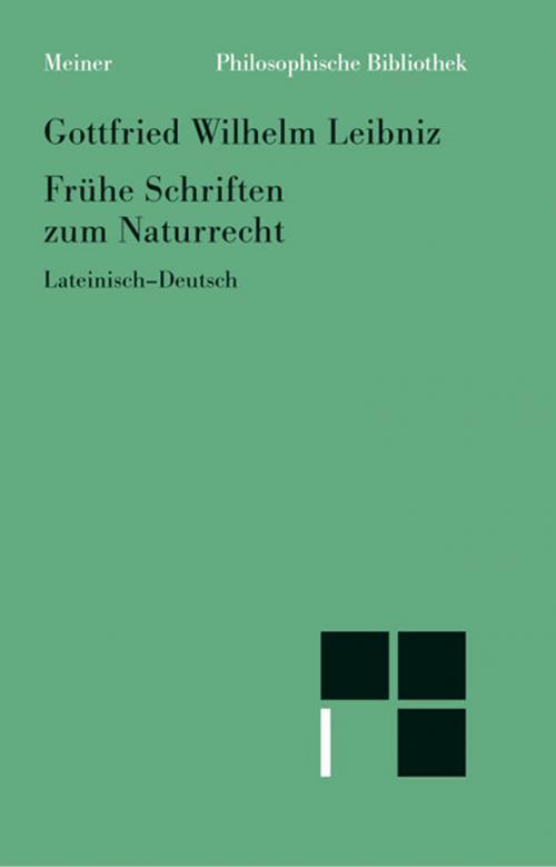 Frühe Schriften zum Naturrecht cover