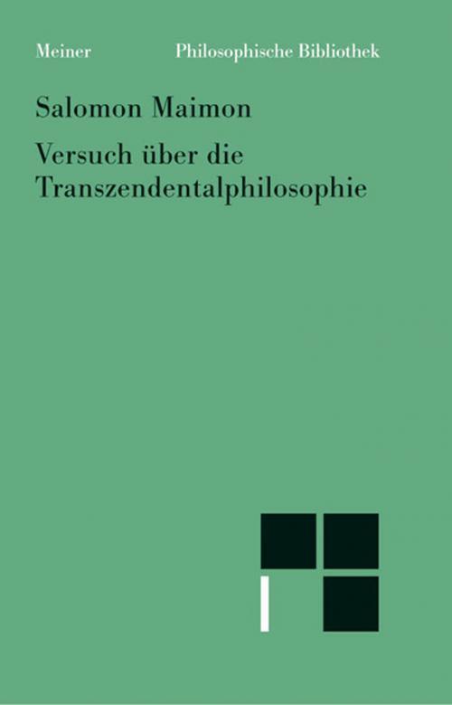 Versuch über die Transzendentalphilosophie cover