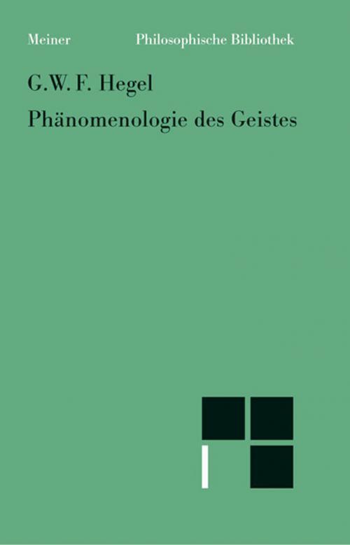 Phänomenologie des Geistes cover