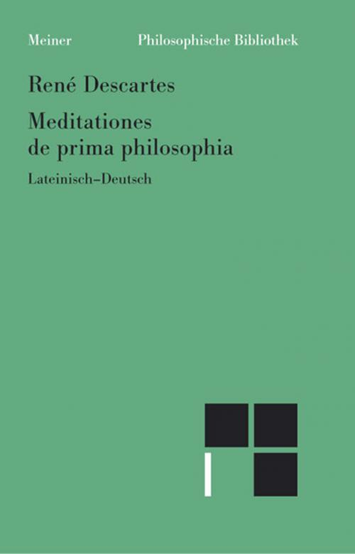 Meditationes de prima philosophia /Meditationen über die Grundlagen der Philosophie cover