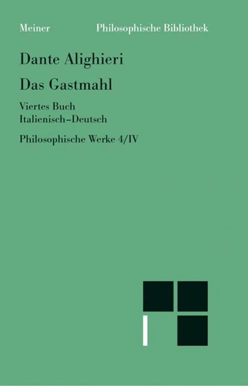 Philosophische Werke / Das Gastmahl I-IV. Ital. /Dt. cover