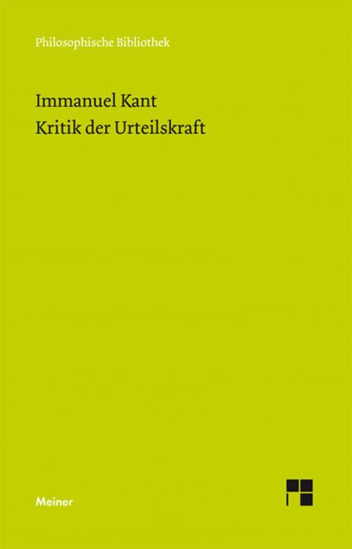 Kritik der Urteilskraft cover
