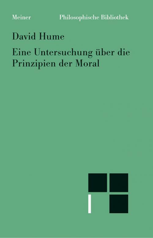 Untersuchung über die Prinzipien der Moral cover