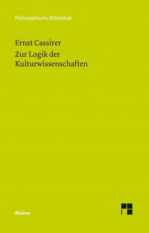 Zur Logik der Kulturwissenschaften. Fünf Studien cover