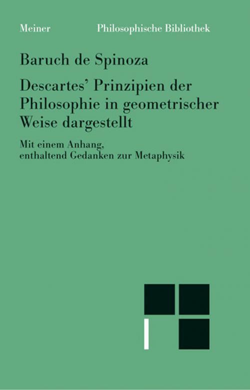 Sämtliche Werke / Descartes' Prinzipien der Philosophie auf geometrische Weise begründet cover